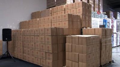 Ankara'da ihtiyaç sahiplerine 80 bin koli gıda yardımı