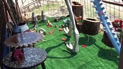 5 metrelik dinozor maketi görenleri şaşkına çeviriyor