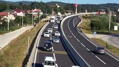 Bolu Dağı Tüneli'nden bayram tatili boyunca 621 bin 736 araç geçti