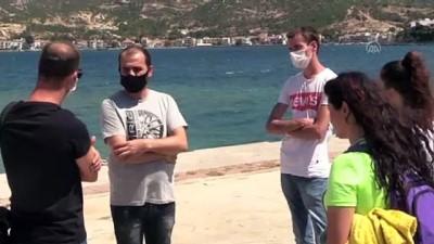 Foça'da batan tekneden kurtulan Sudenaz, arkadaşı için süren arama çalışmasına katıldı - İZMİR