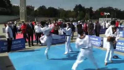Erzurum'da Avrupa Spor Haftası etkinliği