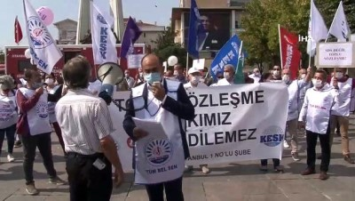Bakırköy Belediyesi çalışanları, Başkan Bülent Kerimoğlu'nu protesto etti