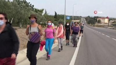 Athenalar doğa için Troia Kültür Rotasında yürüyor