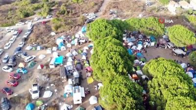 Şile'de korona virüsü hiçe sayarak festival düzenlediler
