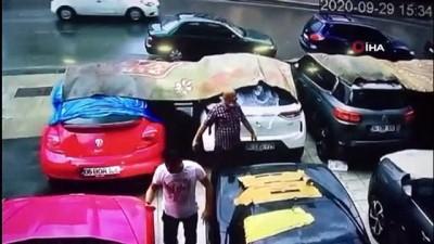 Dolu yağışından milyonluk lüks araçlar zarar gördü
