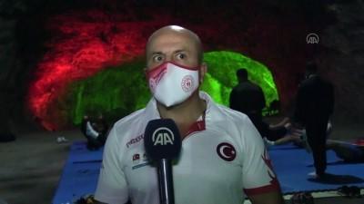 Boks Milli Takımı'nın tuz mağarasındaki antrenmanları devam ediyor - ÇANKIRI