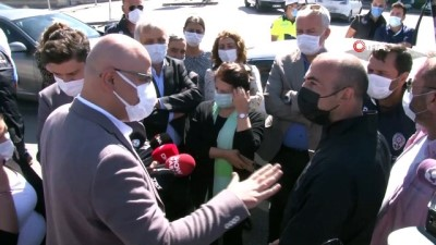 HDP'li milletvekillerinden Ankara Terörle Mücadele Şubesi önünde açıklama