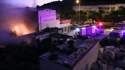 Muğla'da kulübe ve iş yerinde yangın