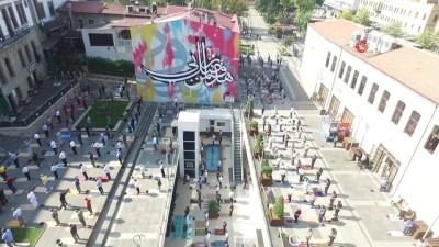 Geleneksel hat sanatı ile grafiti sanatı dünyada ilk kez Trabzon'da uygulandı