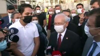 CHP Genel Başkanı Kemal Kılaçdaroğlu'nda Kadıköy Gazhane'de incelemelerde bulundu