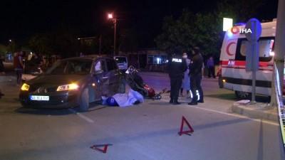 İzmir'de otomobil ile motosiklet çarpıştı: 1 ölü, 1 yaralı