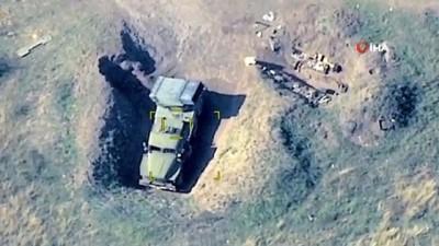 - Azerbaycan ordusu, Ermenistan'a ait askeri araçları yerle bir etti