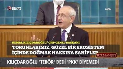 Kılıçdaroğlu terör dedi PKK diyemedi