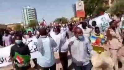 - Sudan'da geçici hükümet karşıtı protesto