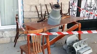 - Ermenistan'ın Terter'e attığı roketler masaya ve bahçeye saplanarak patlamadı
