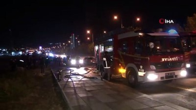 Ankara'da feci kaza: 2 kişi yanarak can verdi, 2 kişi de yaralandı