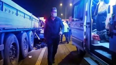 AYDIN - Tırla minibüs çarpıştı: 1 ölü, 2 yaralı