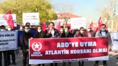 ANKARA - Vatan Partililer, Akdeniz'de Türk gemisine yapılan hukuk dışı aramayı protesto etti