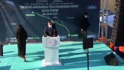TEKİRDAĞ - Şentop: 'Türkiye bütün organize şebekelere inat, uluslararası, yurt içi şebekelere inat, hedeflerinden asla vazgeçmeyecek, vazgeçirilemeyecektir'