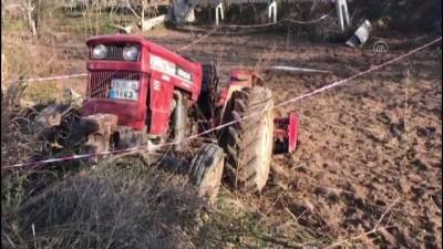 BALIKESİR - Tarla sürerken traktörden düşen sürücü hayatını kaybetti