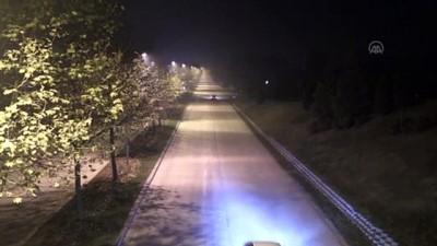 DÜZCE - Sokağa çıkma kısıtlamasının başlamasıyla sokaklar boş kaldı