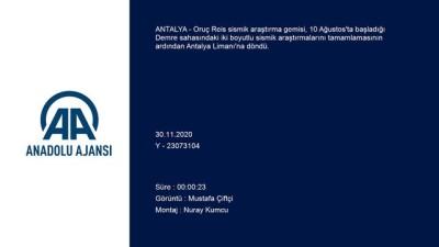 ANTALYA - Oruç Reis sismik araştırma gemisi Antalya Limanı'na döndü