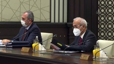 ANKARA - Cumhurbaşkanlığı Kabinesi toplandı