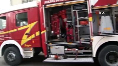 Başkent'te iş yeri yangını itfaiyeyi alarma geçirdi