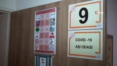 Çankırı'da korona virüs aşısı uygulanmaya başlandı