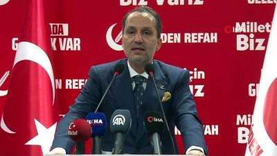 Yeniden Refah Partisi Genel Başkanı Erbakan: 'Milli görüş ruhuyla yeniden geleceğiz inşallah''