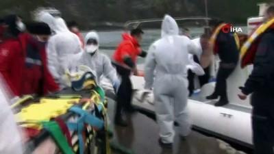 Batan gemide 6 mürettebat kurtarılarak limana getirildi