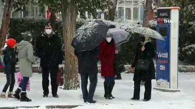 Elazığ kar yağışı ile beyaza büründü, eğiteme ara, engelli ve hamilelere izin verildi