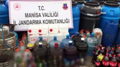 Manisa'da jandarmadan kaçak alkol operasyonu