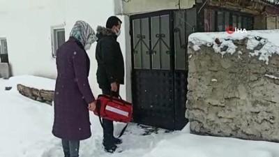 - Kar yağışı aşı ekiplerini durduramadı