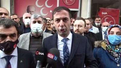 MHP Bismil İlçe Başkanlığına saldırı: Camları kırıp kayıplara karıştılar