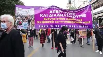 ATİNA - Yunanistan'da 8 Mart Dünya Kadınlar Günü'nde gösteri düzenlendi