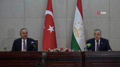 """- Çavuşoğlu, Tacikistanlı mevkidaşını Afganistan konulu toplantıya davet etti - Çavuşoğlu: """"Tacikistan'da en büyük 5'inci yatırımcı ülkeyiz"""""""