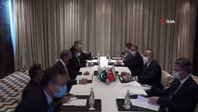 - Bakan Çavuşoğlu, Pakistanlı mevkidaşı Kureyşi ile görüştü