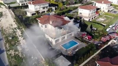 Büyükçekmece'de korkutan villa yangını
