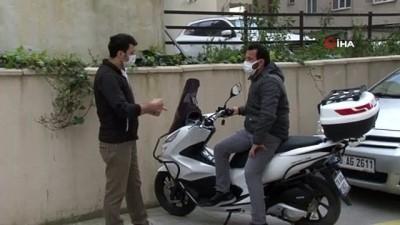 Kredi çekerek aldığı lüks motosikleti saniyeler içerisinde böyle çalındı
