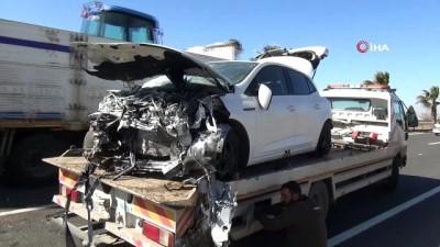 Hastane yolundaki feci kazadan dram çıktı