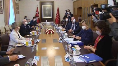 AKPM Başkanı Rik Daems CHP ve İYİ Parti'yi ziyaret etti