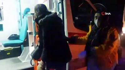 Servis minibüsü ile otomobil çarpıştı: 3 yaralı