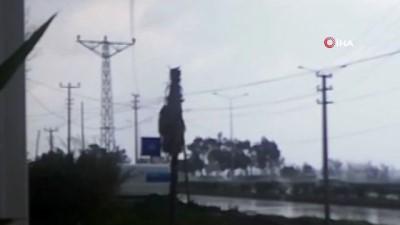Manavgat'ta hortum paniği kamerada