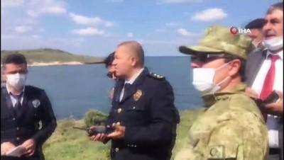 Foça'da askeri eğitim uçağı düştü