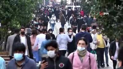 Sokağa çıkma kısıtlaması öncesi Taksim'de denetim gerçekleştirildi