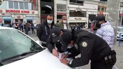 Taksim'e turist gibi gelen yerleşik yabancılara ceza