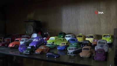 """Eskişehirli koleksiyoncunun """"kaplumbağa araba' sevgisi"""
