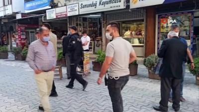 Hatay'da polis maske denetimi