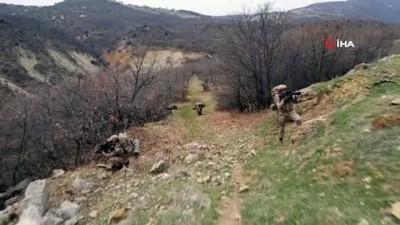 Tunceli'deki Eren-7 operasyonu: 17 sığınak imha edildi